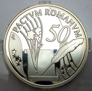 Belgium 10 Euro 2007 Silver coin proof - Treaty of Rome (T100)