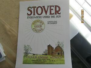 1915 or 1920 Stover Engine Works Gas Engine Catalog  Limited Color