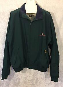 Zero Restriction Gore Tex Golf Jacket Full Zip Long Sleeve Green L
