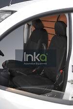 Peugeot Bipper Cargo Front Inka Tailored Waterproof Seat Covers RHD 08-16 Black