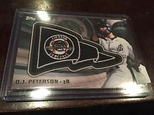 DJ PETERSON 2015 Topps Pro Debut PENNANT PATCH CARD PP-DP Jackson Generals RELIC