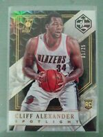 2015-16 Panini Limited Cliff Alexander RC Gold 1/25