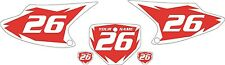 2003-2007 HONDA CRF230F Custom Pre-Printed Red Backgrounds White Shock Series