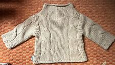 8dfd11014 KUSHIES BABY KIDS Tan Brown Cable Knit Sweater 6 Mo New w/Tags