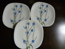 """3 Block FLORAL PORTRAITS? Switzerland  Bread Butter Plates""""Chicory"""""""