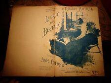Ancienne Partition Théodore Botrel Le Bruit des Berceaux Musique André Colomb
