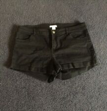 H&M Black Denim Shorts Size 12 - Perfect Condition