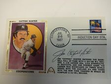 Jim Catfish Hunter Cooperstown Autographed Cache New York Yankees JSA M92206