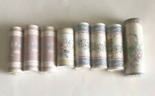 lot of 8 roll wall paper border floral pastel prepasted strippable washable