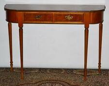 Antique English Yew Console Table Folding Card Occasional Table [PL3486]