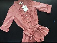 JOTTUM Ellen Tunic Red Chinese Sz 116 5 6 Girl Checked Shirt