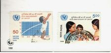 1986 India SC #1132-33  40th Anniversary of Unicef  used stamps