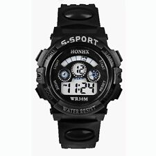 HOT Waterproof Children Boys Digital LED Sports Watch Kids Alarm Date Watch