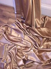 "5 MTR COPPER CREPE BACK LINING SATIN FABRIC...58"" WIDE (NEW IN STOCK)"