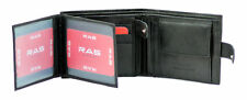 MENS LUXURY SOFT BLACK REAL LEATHER WALLET CREDIT CARD HOLDER, CHANGE PURSE 2511