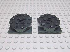 Lego 2 Drehteller 4x4 schwarz 3403c01 Set 6774 6280 7657 7994