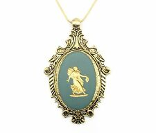 Authentic Wedgwood - Cameo Pendant on Gold Plate Chain