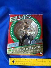 1996 Elvis Xmas Tree Ornament Figure Musical Carlton Cards Santa Bring My Baby