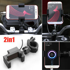 360° USB Charger Motorcycle Bike Cycling Scooter ATV Mobile Phone Bracket Holder