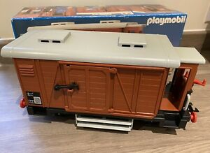 Playmobil Vintage Train Carriage 4111 Boxed And Complete Very Good Example