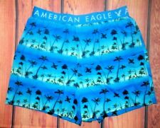 MENS AMERICAN EAGLE PALMS TROPICAL BLUE BOXER SHORTS SIZE L (35/38)