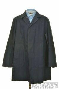 MACKINTOSH Solid Blue 100% Cotton Mens Jacket Coat - XL