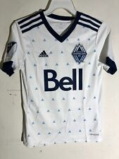 Adidas Youth MLS Jersey Vancouver Whitecaps Team White sz S