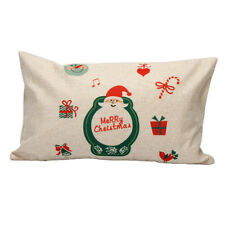 Home Decoration Pillow Case Cushion Merry Christmas Letter Sofa Bed Cover Linenv #9