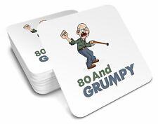 80th  Birthday 1938 Happy Present Gift Idea For Men Him Male Keepsake Coaster