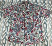 Cooke Street Honolulu Mens Hawaiian Button Front Short Sleeve Shirt Size L Large