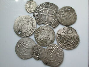 Livonian order medieval silver coins lot