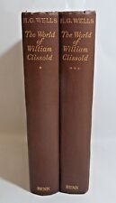 The World of William Clissold in 2 Volumes by H G Wells 1926 probably 1st ed
