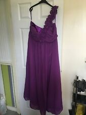 Women's purple bridesmaid dress purple plus size 24