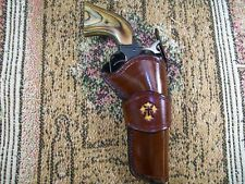 Handmade Leather Right Hand Holster .22 Rough Rider S.A Revolver 4 3/4 brl