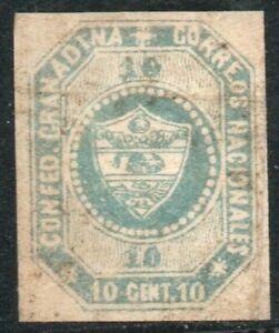 COLOMBIA 1859 10 C. TRIAL COLOR PROOF  Sc. 4 TC