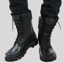 Mens Military Fur Lining Special Forces Steel Toe Motorcycle Combat Ankle Boots