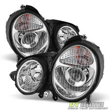 2000-2002 Mercedes Benz W210 E320 E430 Projector Headlights Headlamps Left+Right
