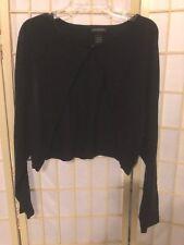 Women's size 26/28 Lane Bryant Black Cropped Long Sleeve Sweater