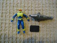 Vintage GI Joe Eels (V2) 1992 Hasbro Action Figure Cobra w/Shark,Stand