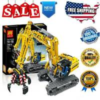2In1 Technic Excavator Model Building Blocks Brick Without Motors Set 720 Pieces