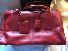 BRAND NEW AUTHENTIC TOD'S LARGE HANDBAG GORGEOUS RED LEATHER WCONTRAST STITCHING