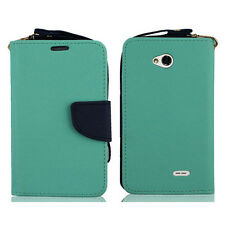LG OPTIMUS L90 D415 WALLET CASE FOLIO W/STAND CARD SLOT MAGNETIC CLOSURE COVER