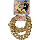 Hip Hop Old School Bling Giant Neck Chain Gold Plastic 80s Pimp Costume Accesory