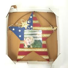 """Americana Country Star Hanging Picture Frame 4""""x4"""" Photo NWT 10"""" Tall Nantucket"""