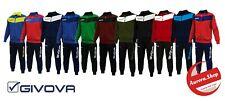 tuta uomo GIVOVA Sport Palestra calcio allenamento RUNNING 12 colori FULL ZIP