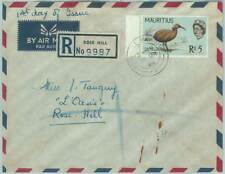 67536 - MAURITIUS - Postal History - Registered FDC COVER 1965 - BIRDS: 5 Rs