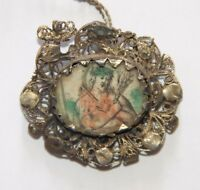SAINT ISIDRO MEDAL. SILVER AND CRYSTAL ROCK. SPAIN. 18th CENTURY