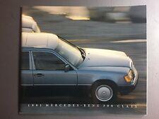 1991 Mercedes Benz 300 Class DELUXE Showroom Advertising Sales Brochure RARE!!