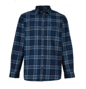Red Head Navy & Light Blue Premium Checked Flannel Shirt