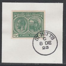 St Kitts 5460 - 1920 KG5 1/2d on piece with MADAME JOSEPH FORGED POSTMARK